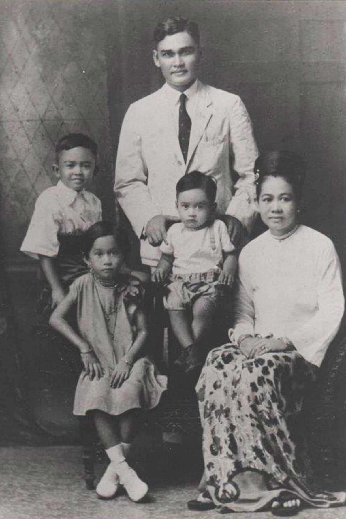 Family portrait.Margaret on the left.