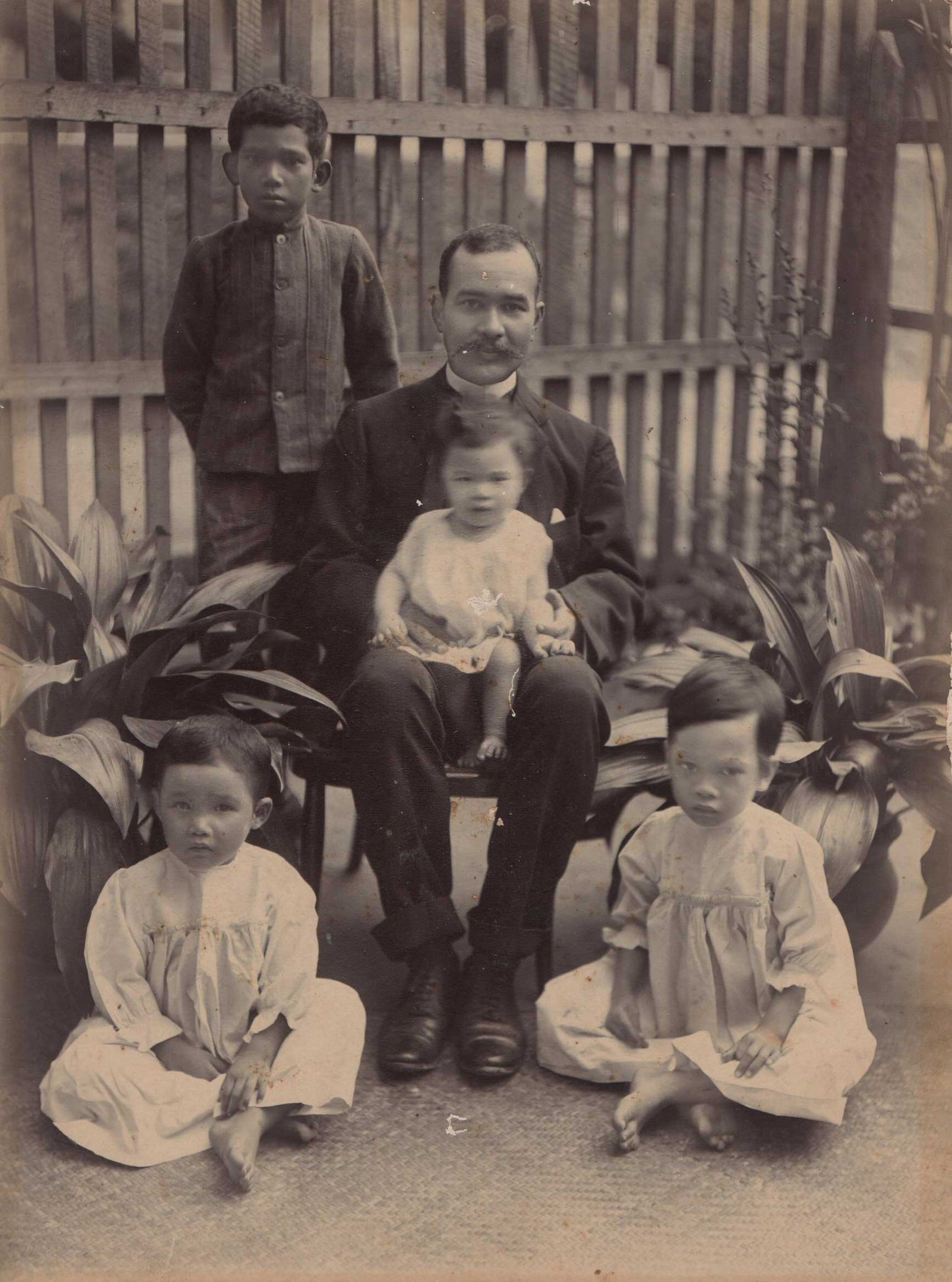 April's grandfather and family