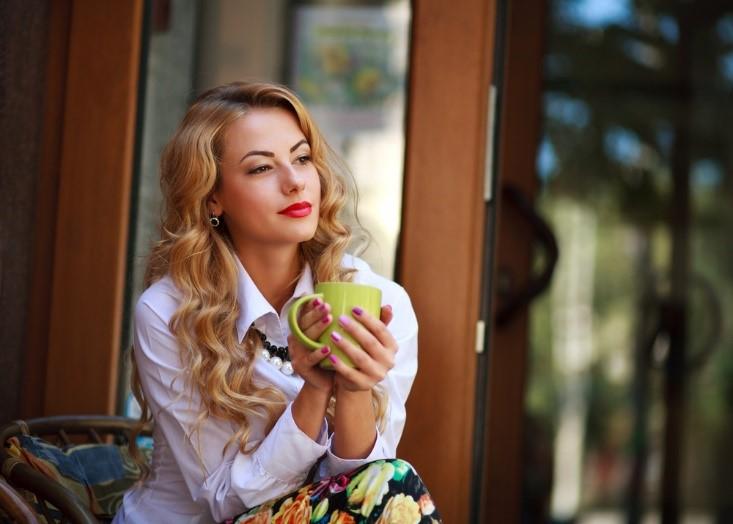 Confident and blonde-blending hair girl