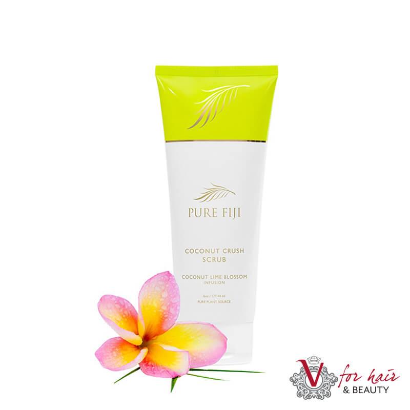 Pure Fiji Coconut and lime blossom Coconut crush scrub 177ml