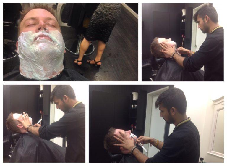 Gokul hot steam shaving VJ Barber