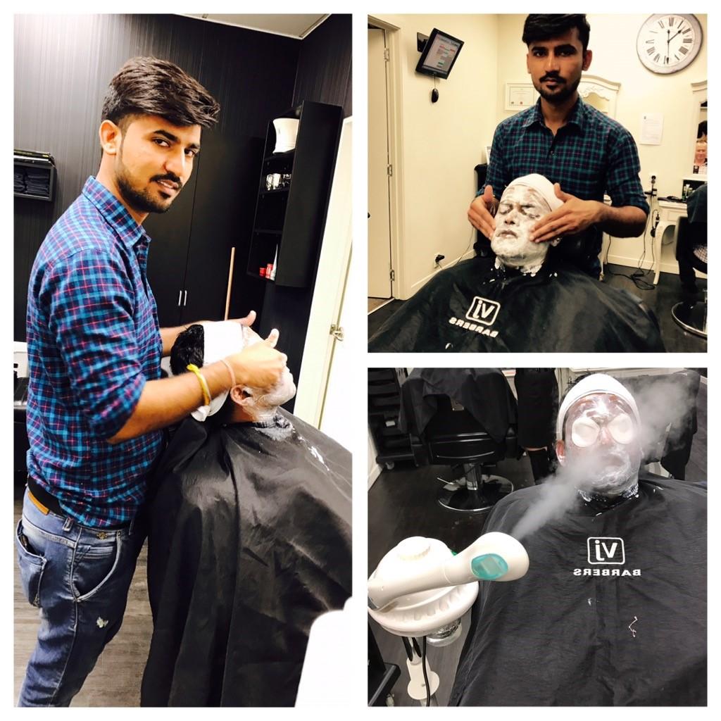 Men's facial VJ barbers