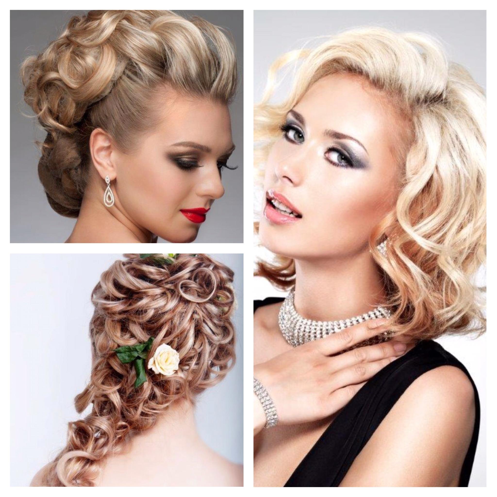 Updo ball season hair