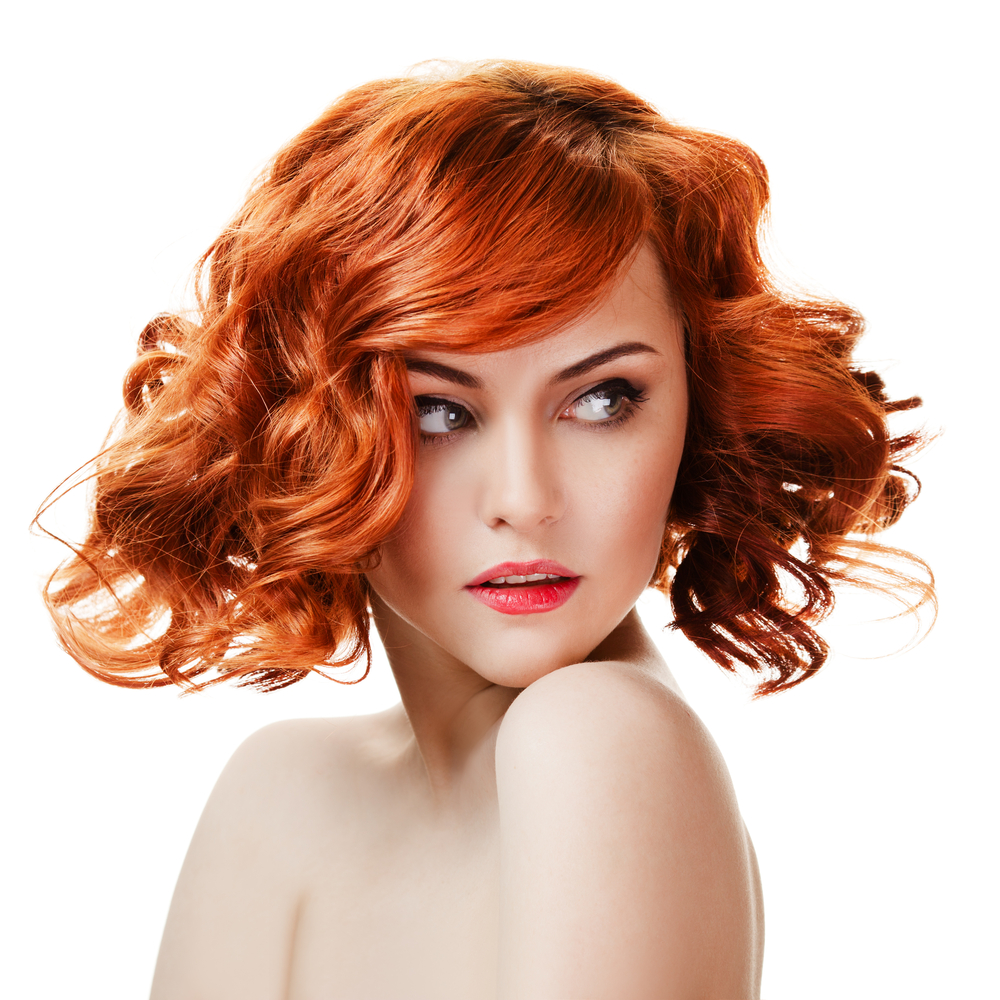 Girl with red-curls hair