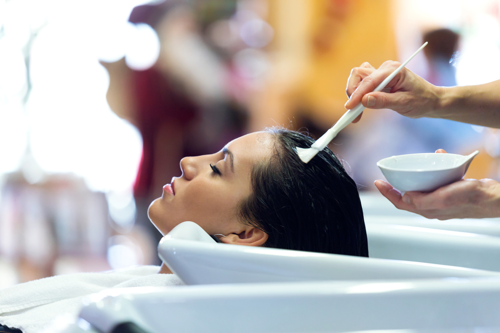 girl with luxury hair treatment