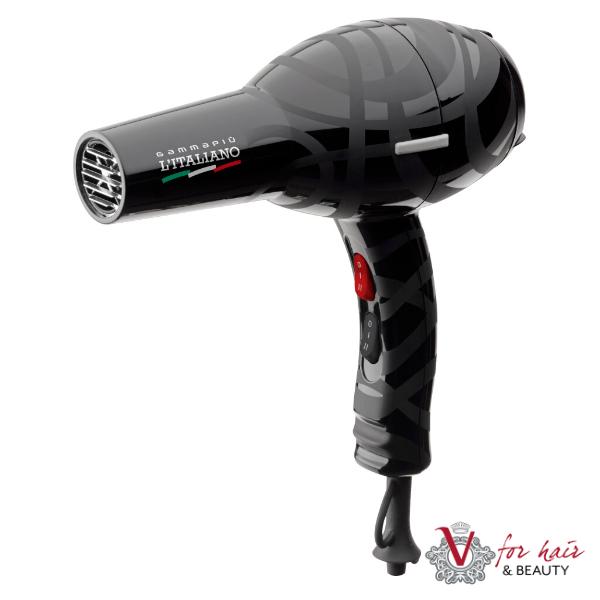 Gamma+ L'Italianio Black Hair Dryer