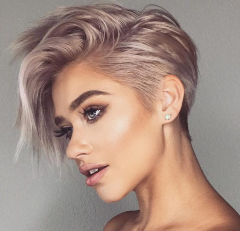 Colored Pixie Haircut for Ladies Short Hair