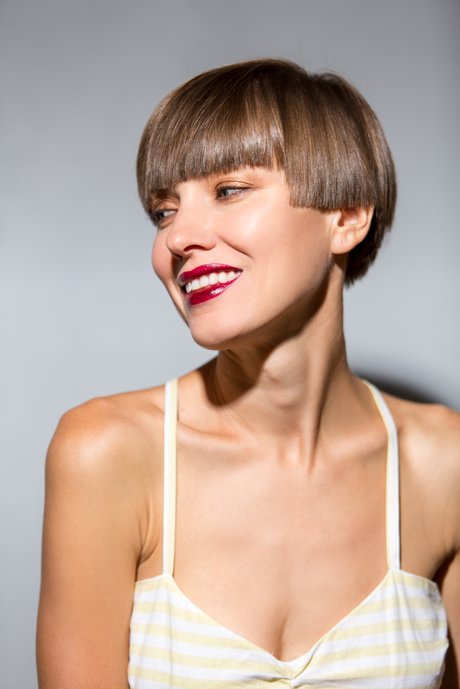 Hot Trendy Coloured Short Haircut and Hair Style