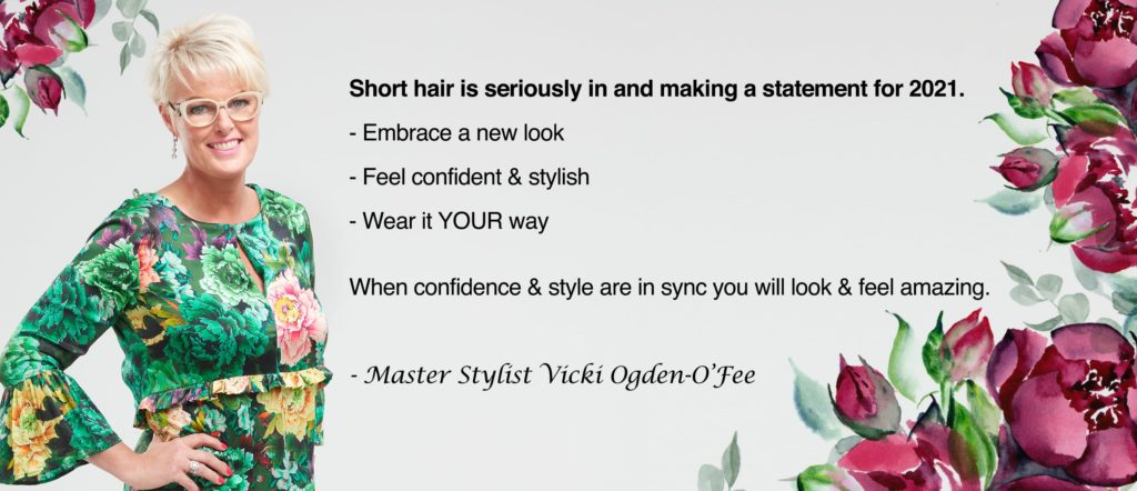 Vicki Quote for Short Hair style Look feel amazing