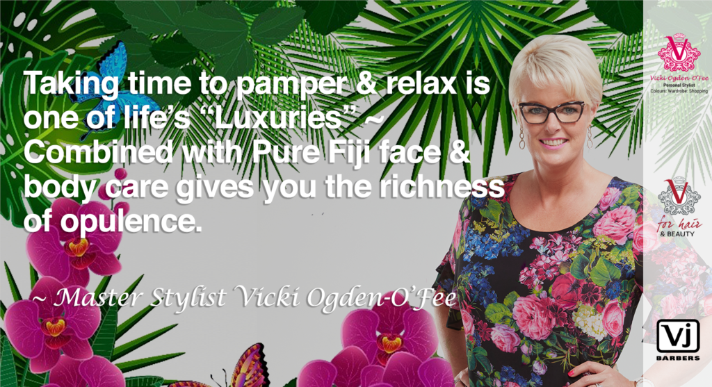 Vicki Quote for Pure Fiji face and body gits selection