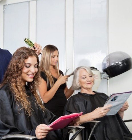 Hair consultation at Salon