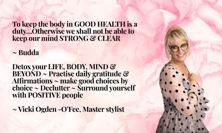Vicki Quote Buddha Good Health and Mind Spring Detox