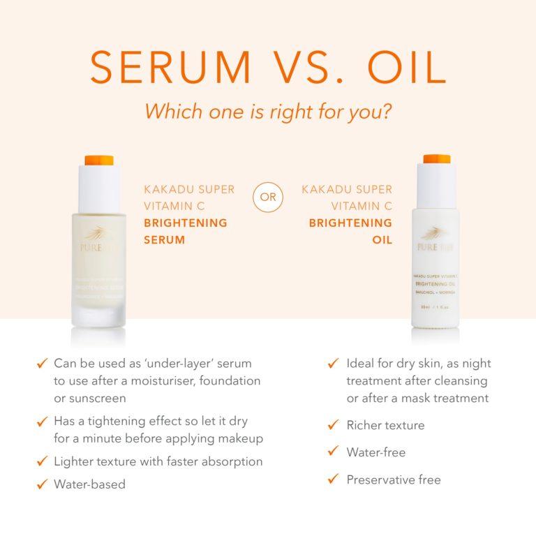 Serum vs Oil