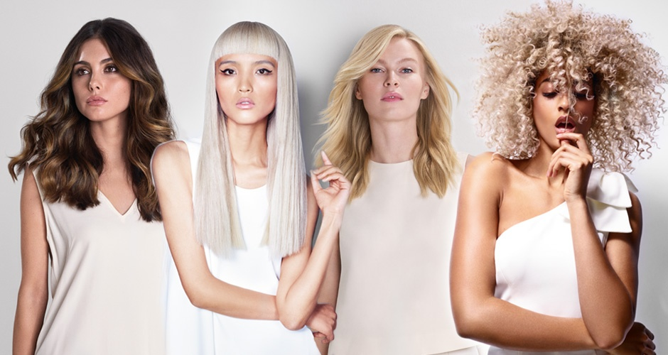 BlondMe models Different hair style looks