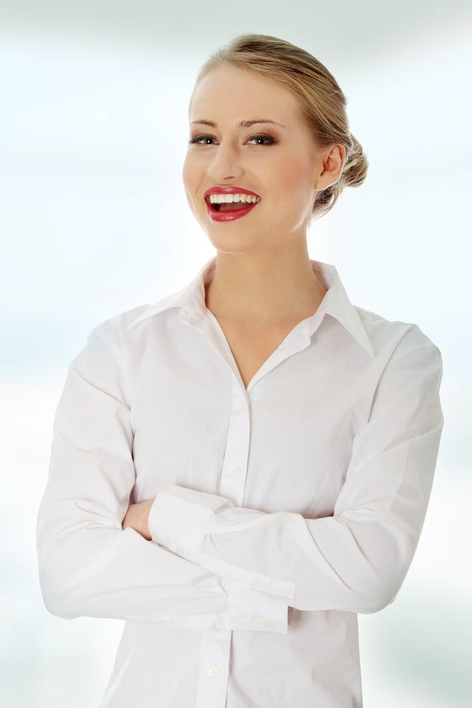 White shirt and warm tones