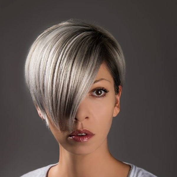 silver short haired female
