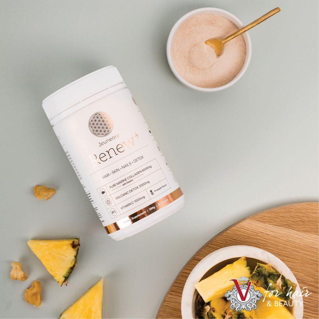 Renew-Marine-Collagen-with-Detox-Daily-Drink-Powder-300g-pineapple