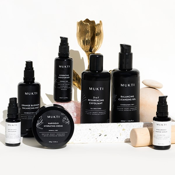 Collection of Mukti products