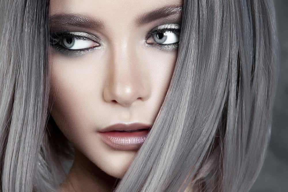 Silver haired female