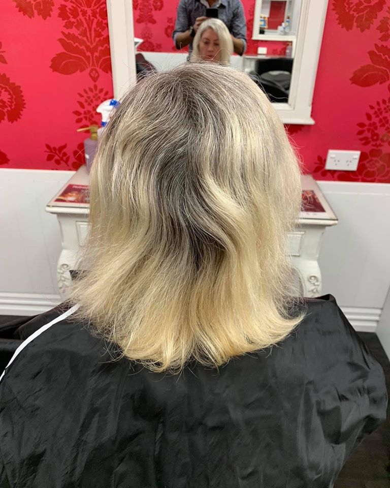 Before damaged hair