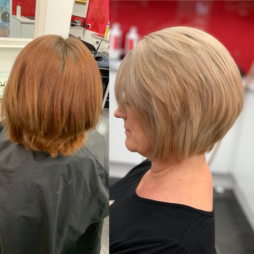 Before and after of hair