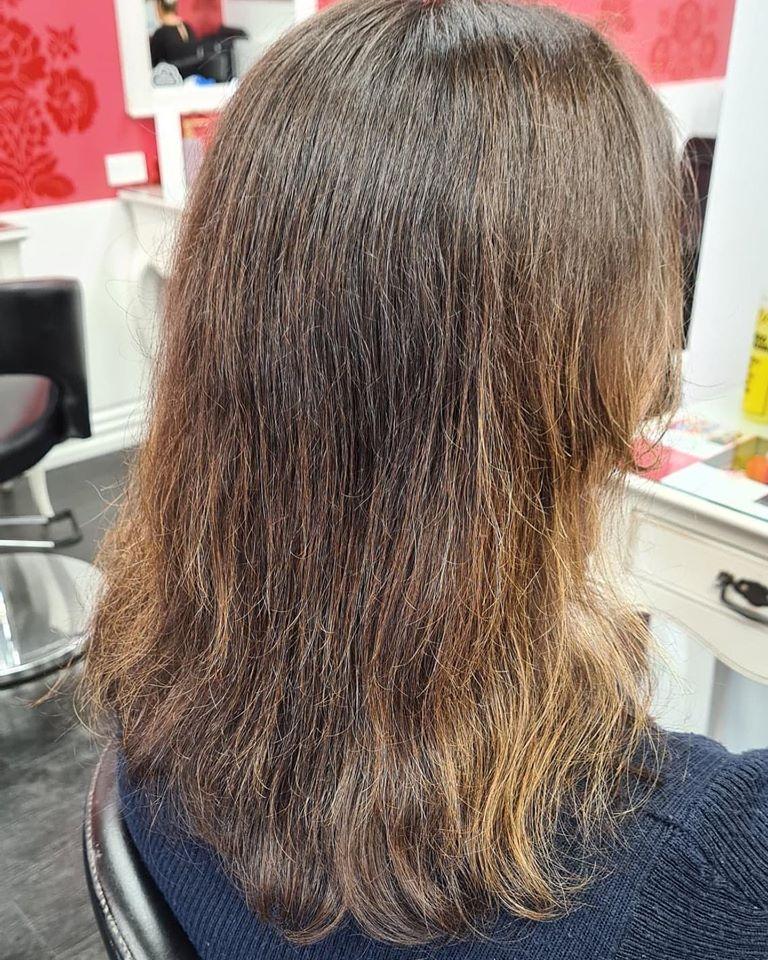 Damaged brown hair