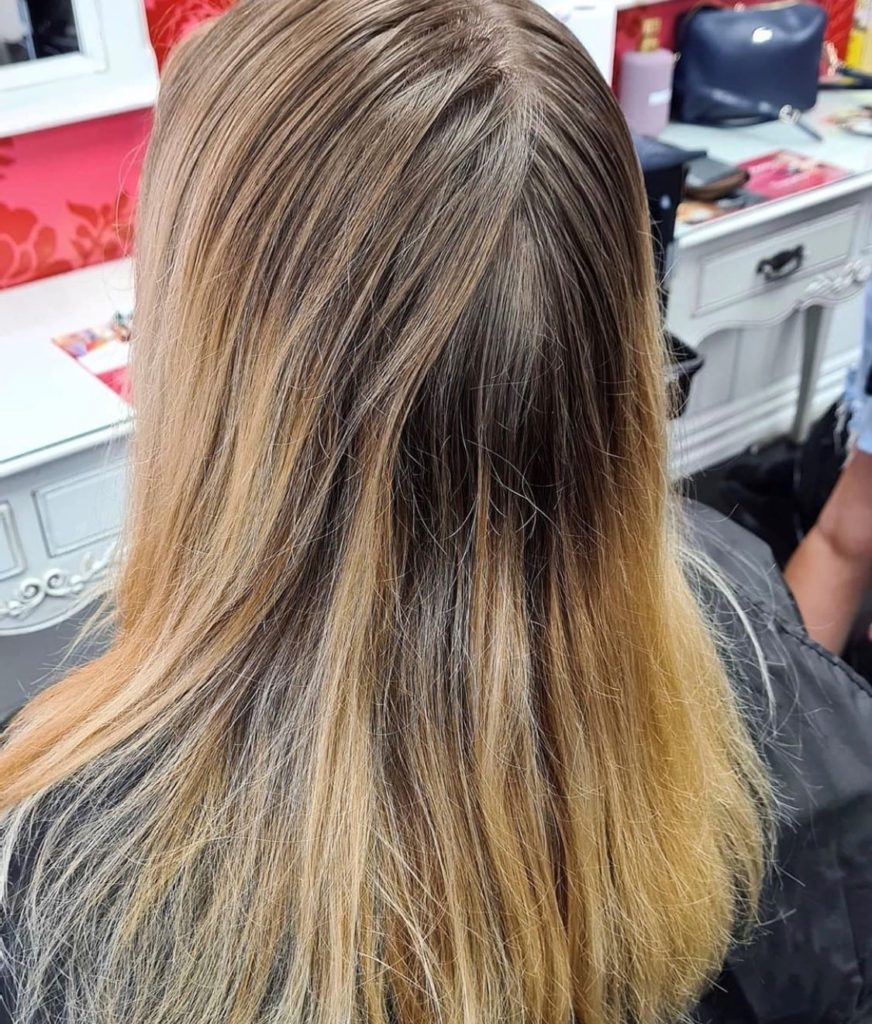 faded damaged hair