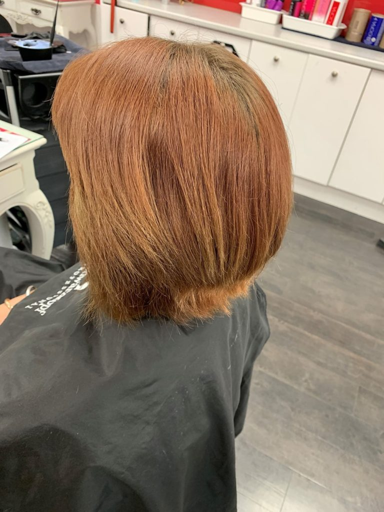 Before damaged uncoloured hair
