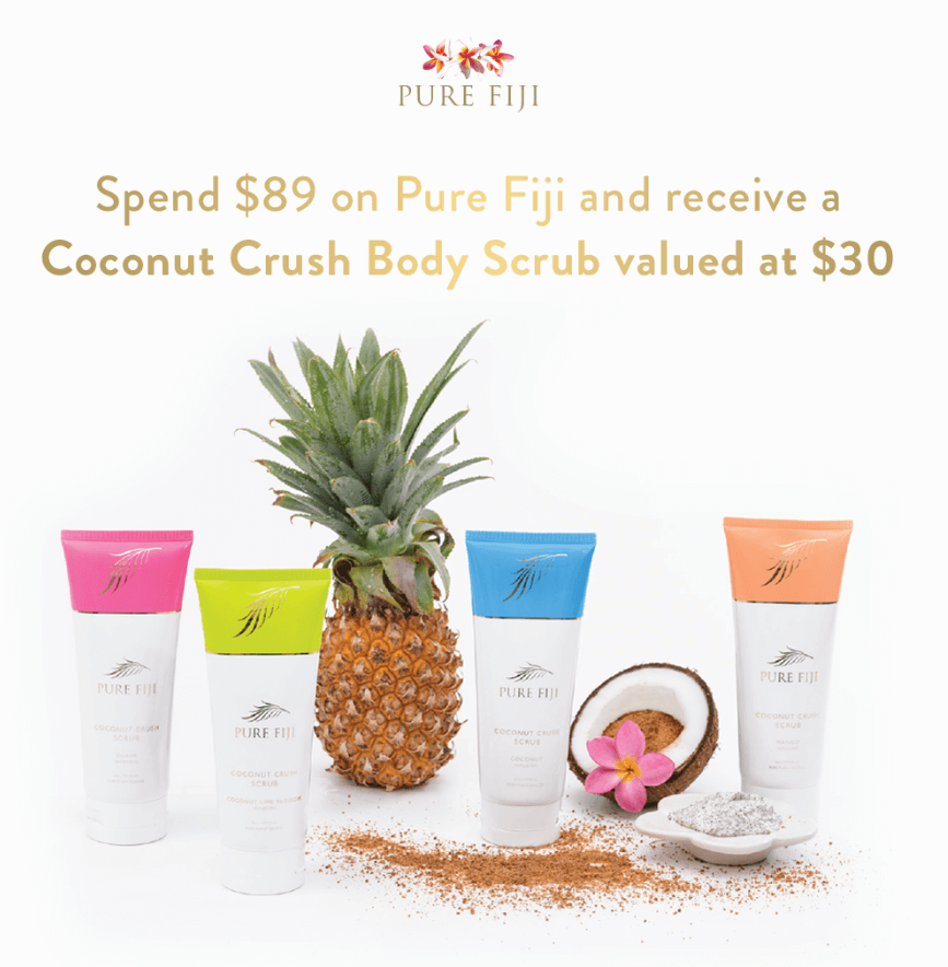 Pure Fiji gift with purchase products