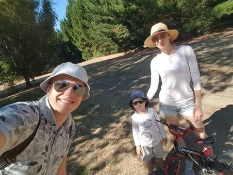Daniel and family out walking