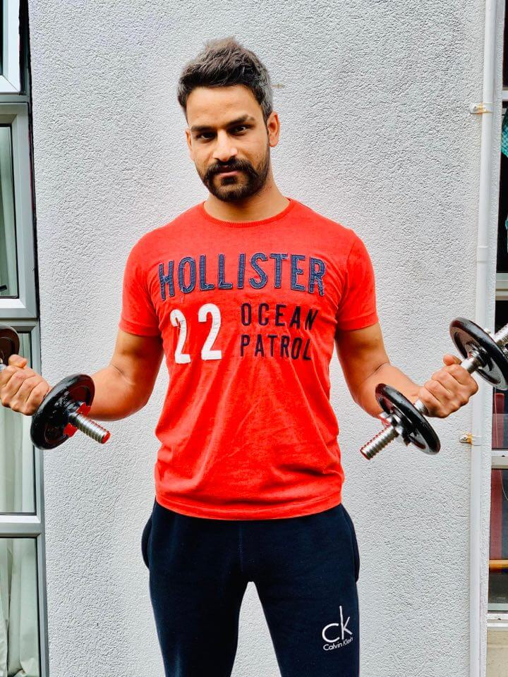 Kumar working out