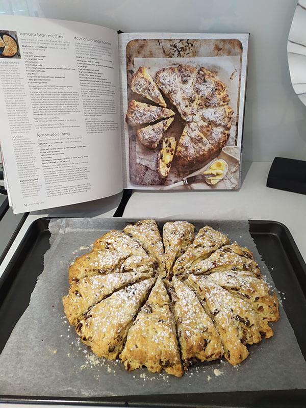 Sara scones with recipe book