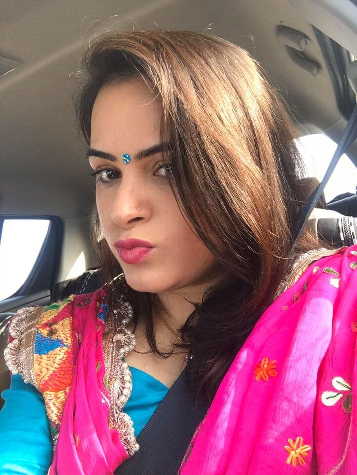 Pam in Indian attire