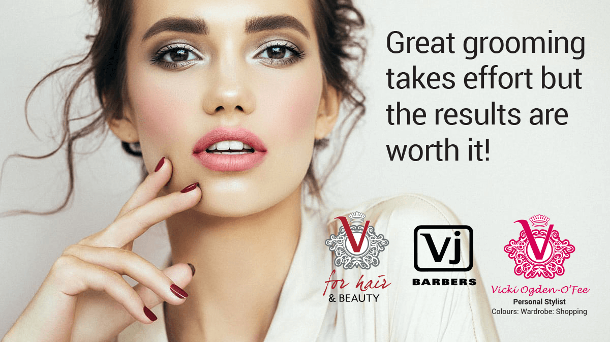 V-for-Hair Great Grooming Takes Effort Quote