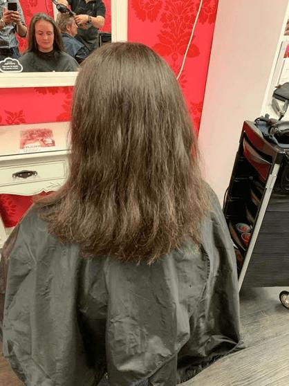 Permanent Hair straightening before
