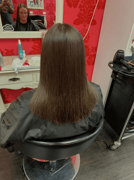 Permanent Hair straightening after - V for Hair