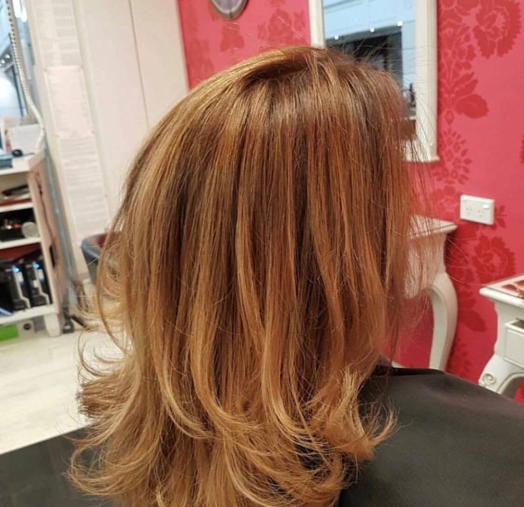 Daniel soft copper auburn hair