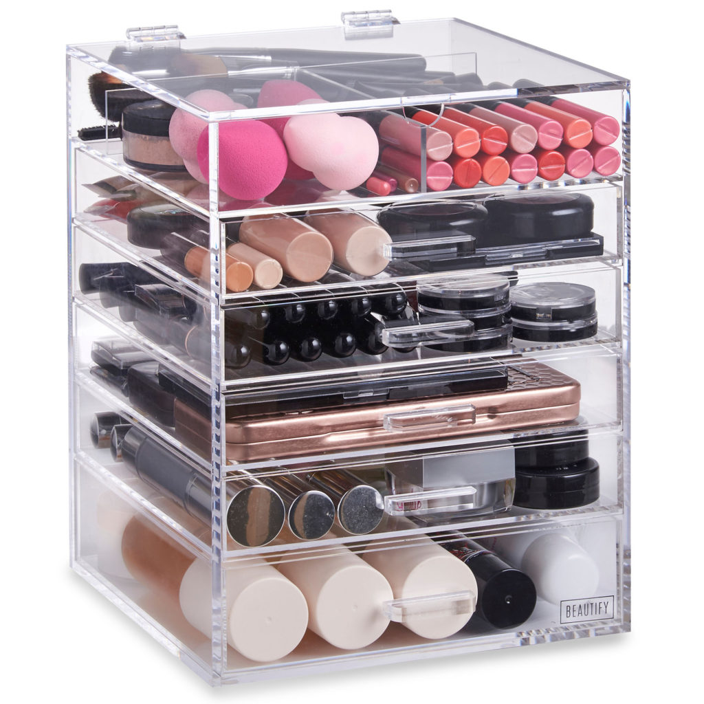 Makeup organizer V for hair and beauty