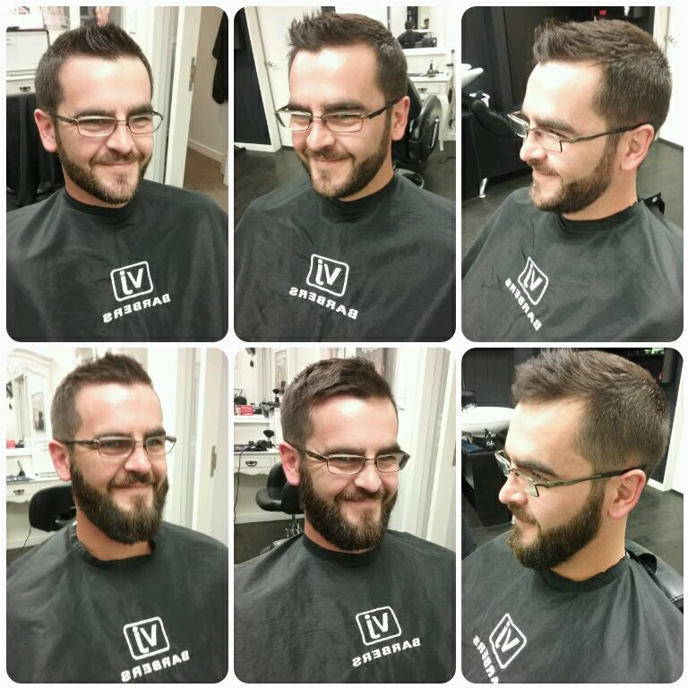 Using beard oil at VJ Barbers, Merivale, Christchurch