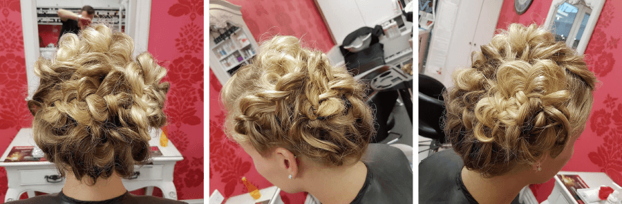 French flair hair up by Stylist Daniel at V For Hair and Beauty Merivale