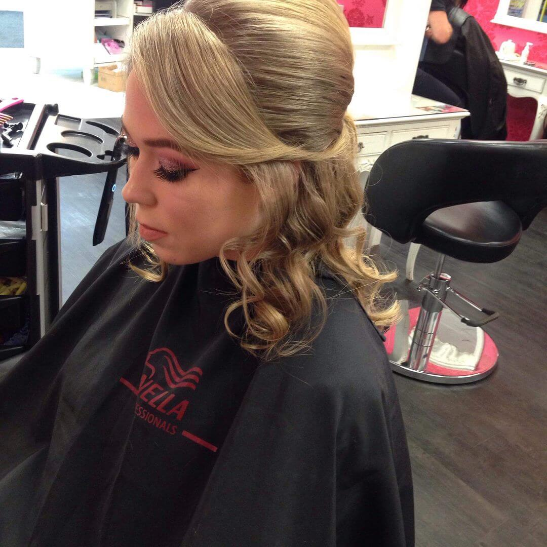 Beautiful hair up by stylist Kumar at V For Hair and Beauty Merivale
