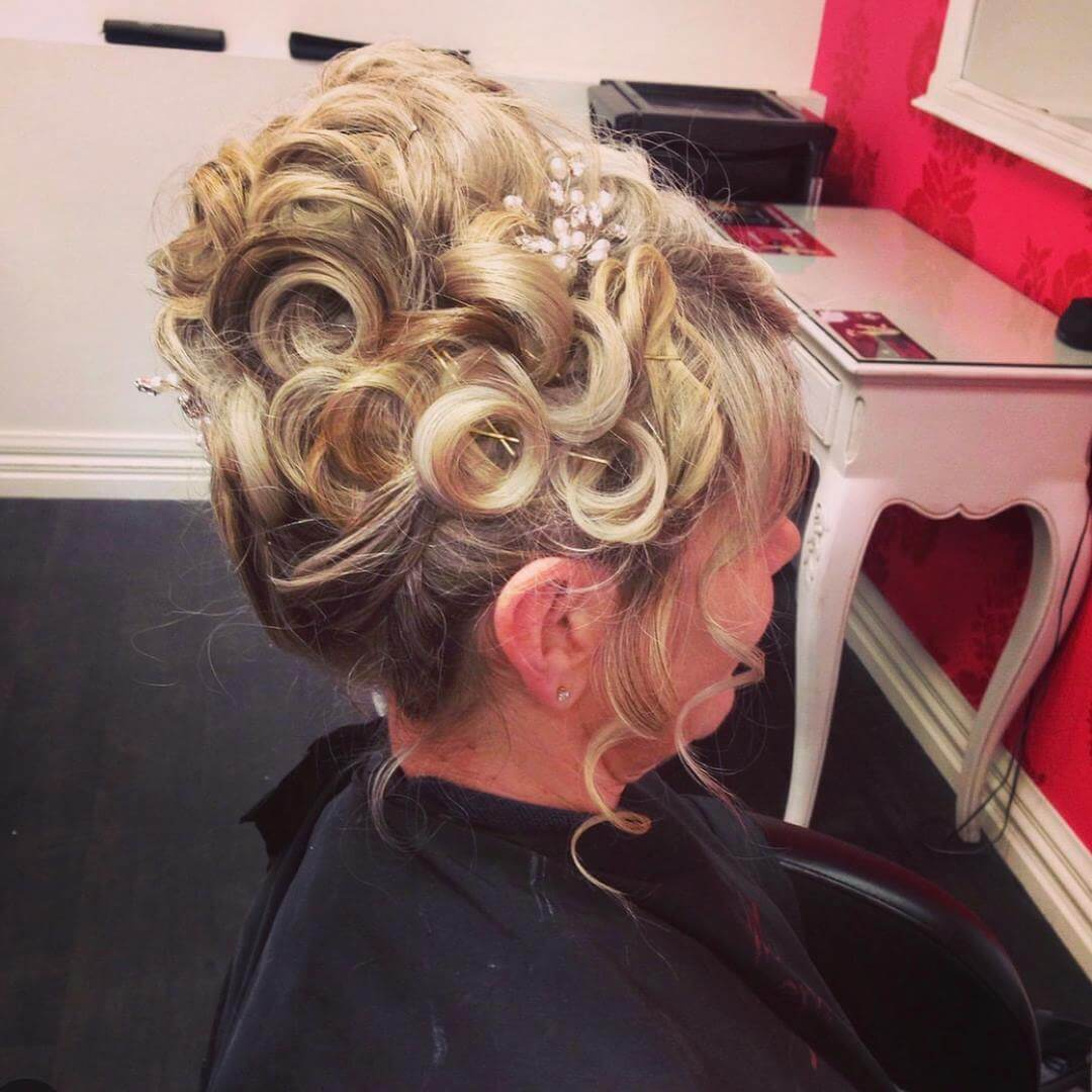 Wedding hair styled by Kumar, V for Hair and Beauty Merivale