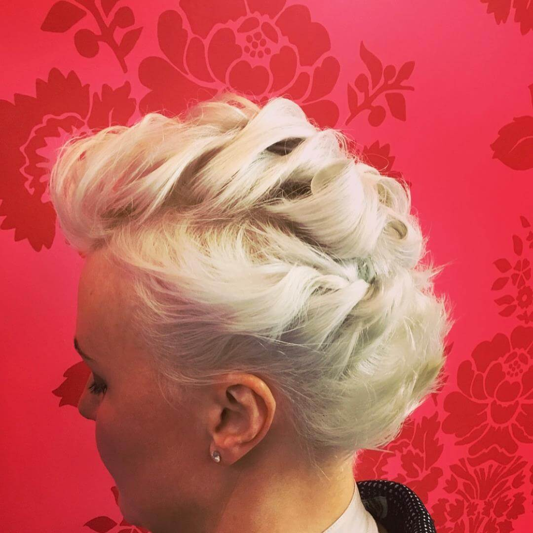 Short on trend fashion hair up, Styled by Daniel at V for Hair and Beauty Merivale