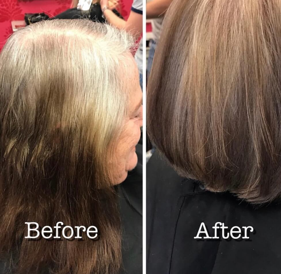 Going Grey beautifully, By Master Stylist Vicki.