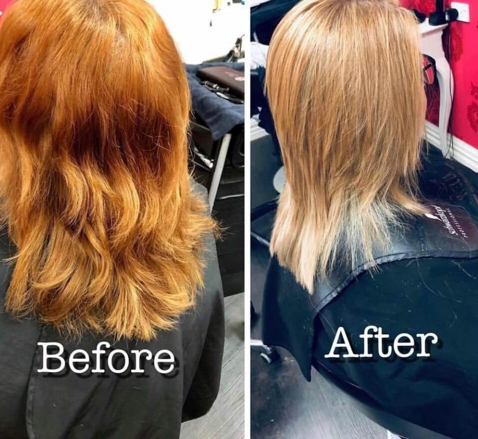 From Copper to Blonde by Stylist director Kumar.