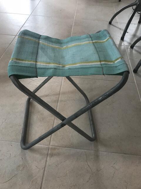 Upcycling camping stools.