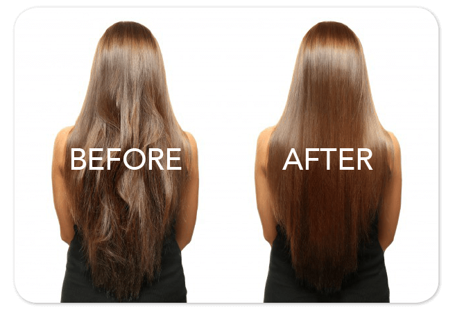 Before and After Keratin service