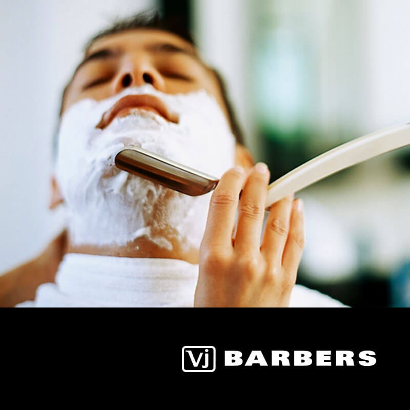 Mens-Premium-Hot-Steam-Shave - Vj Barbers