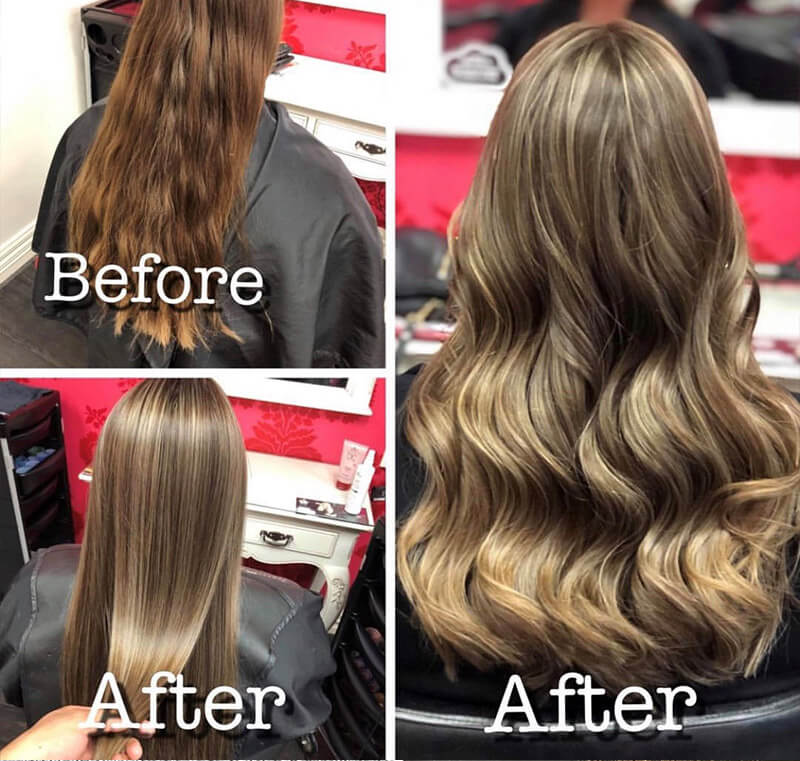 Before and after highlights