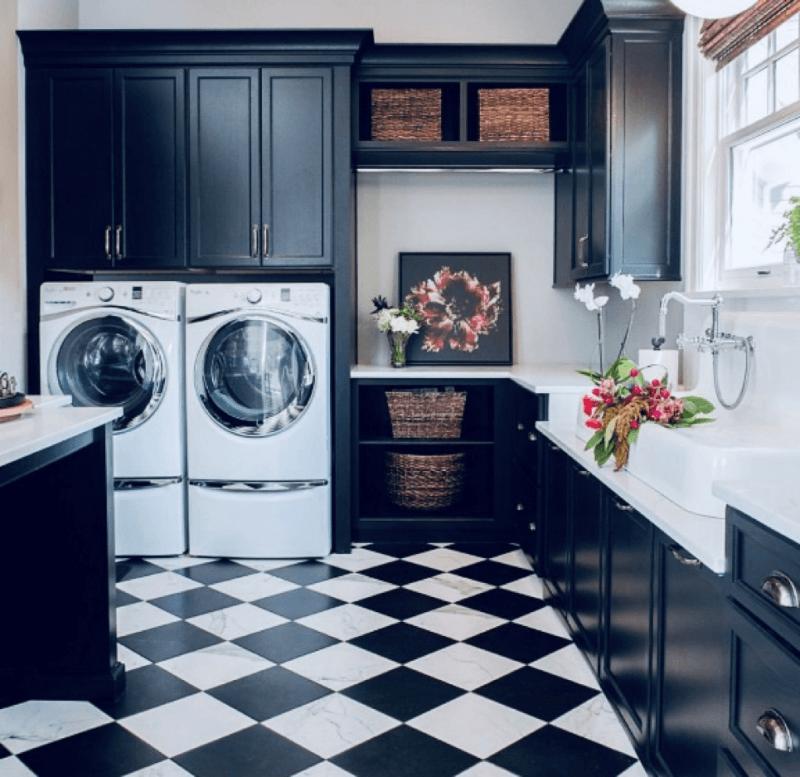 Sleek and stylish laundry design
